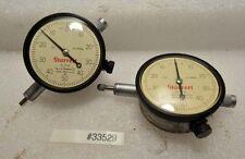 Lot of Two Starrett Dial Indicators No. 25-141 (Inv.33529)