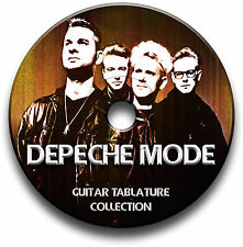 Depeche Modus POP ROCK KLAVIER TASTATUR Gitarre Tab Tablature Lied BUCH Software