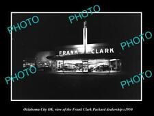 OLD POSTCARD SIZE PHOTO OKLAHOMA CITY OK USA FRANK CLARK CAR DEALERSHIP c1950