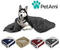 Dog Blanket for Medium Large Dogs Pet Soft Fleece Durable Warm Sherpa Reversible
