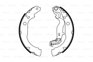 Rear Brake Shoes Kit for DACIA DACIA DUSTER Box 1.2 TCe 125 4x4