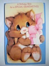 "VINTAGE ""A BIRTHDAY WISH FOR A SPECIAL GRANDMOTHER"" GREETING CARD ~Carlton Cards"