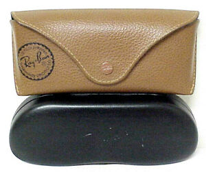 2 RAY-BAN STORAGE CASES BROWN & BLACK VINTAGE RAY BAN CASES ONLY NO SUNGLASSES