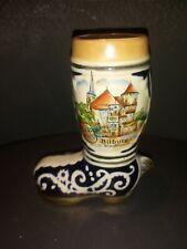 Vintage Ceramic Bitburg Boot Beer Stein Germany