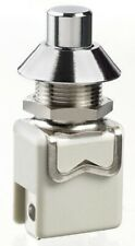 Apem 1200-SERIES PUSH-BUTTON SWITCH 2A 1-Pole Momentary SPST, Plunger CHROME