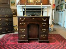FINE SMALL PERIOD GEORGIAN CUBAN MAHOGANY KNEEHOLE DESK BY: Jewell's of London