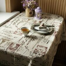 Tower Print Table Cloth Cotton Linen Tablecloth Dining Table Cover Home Supply