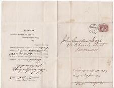 # 1873 INVERNESS DUPLEX 1/2d BANTAM PLATE 3 PAROCHIAL BOARD GLENLEA JAS CAMERON