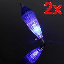 2pcs MINI LED Deep Drop Underwater Fishing Squid Lure Lights Blue Flashing PT PT