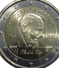 More details for vatican 🇻🇦coin 2€ euro bunc in folder 2018 50y death padre pio holly priest