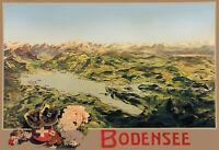 Bodensee Blechschild Schild gewölbt Metal Tin Sign 20 x 30 cm F0349