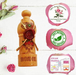 100% PURE essential Bulgarian ROSE OIL otto, Rose of Damask Certified