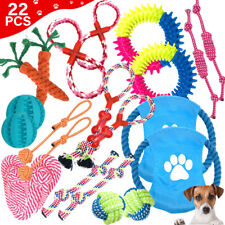 11pcs Pet Dog Rope Chew Toy Set Puppy Durable Cotton Toys Clean Teeth