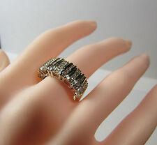 10K 10KT Gold Diamond Baguettes Band Size 6.75 Ring JTW Jerrid Thelman White