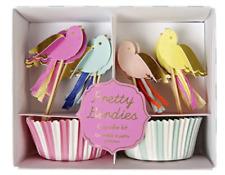 Cupcake Set - pastel birds