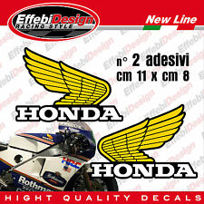 Adesivi / Stickers 2 pezzi ali old Honda serbatoio tank HRC CBR VTR VFR HORNET