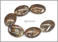 6 Pietersite Flat Oval Beads 18x25mm #77042