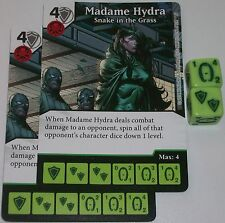 2 x MADAME HYDRA: SNAKE IN THE GRASS 64 Deadpool Dice Masters