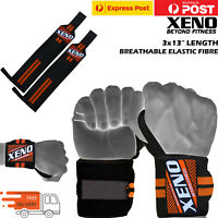 "3x13"" Pro Xeno Weight Lifting Wrist Wraps Gym Workout CossFit Training Straps"