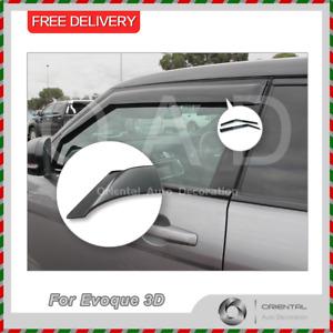 Premium Weathershields Weather Shields Window Visor for Evoque 3D 11-18