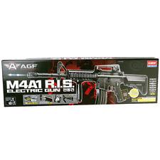 ACADEMY #17407 M4A1 RIS Electric BB Air Soft Gun 6mm/ Double Hop Up , 20mm Rail