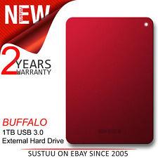 Buffalo 1TB MiniStation Safe USB 3.0 External Portable Hard Drive│HD-PNF1│Red