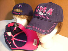 Cma Music Festival 2016 Fan Fair Distressed Ball Cap Blue/Pink Country Girl Hat