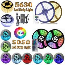 1M-10M 5630 5050 RGB SMD LED Strip Light Waterproof Flexible+Remote+Power Supply