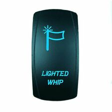 Polaris RZR 1000 BLUE ROCKER SWITCH LASER ETCHED 20A 12V LED LIGHTED WHIP