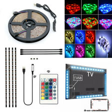 USB LED Strip Lights 5050 RGB Tape TV Back Under Cabinet Kichen Lighting 1/2/5M