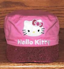 "2012 SANRIO ""HELLO KITTY"" SEQUINNED GIRLS PINK PAINTERS STYLE CAP/HAT - ONE SIZE"