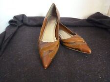 BONBONS ANISETTE TAN LOW HEEL LADIES LEATHER SHOES SIZE 7.0