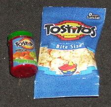 Dollhouse Miniature Tostitos Chips & Salsa 1:12 Tex Mexican Snacks Food Nacho