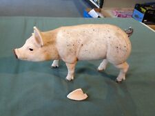 "1/6 Scale Porcelain Pig Hog Farm Animal for 12"" Action Figure Broken Ear"