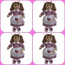 Personalizado De Muñeca De Trapo Flores Niña, Bautizo, Cumpleaños, hermana, nuevo bebé, 40 Cm
