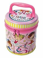 Ballerina Zipped Tin Hair Accessories Carry Case Girls Storage Tin Present Gift