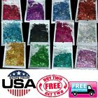 Rainbow Holographic Holo Glitter Mix Chunky Hex Nail Art Face Festival Crafts