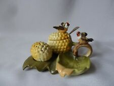 Antique/Vintage  Cruet With Birds on Leaves, Not Marked