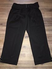 Jus D'Orange Paris Pants, ladies Size Small Black Cropped Pants Button Cuff