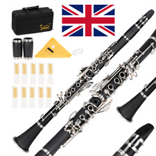 More details for 17 keys flat b black clarinet with two mouthpieces for beginner student