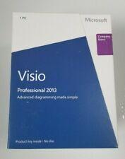 Microsoft Visio Professional 2013 Retail Brand New Full D87-05358