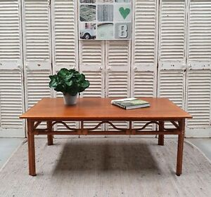 LARGE CANE COFFEE TABLE