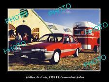 LARGE HISTORIC PHOTO OF GM HOLDEN, 1986 VL HOLDEN COMMODORE SEDAN PRESS PHOTO