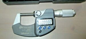 "MITUTOYO IP 65 COOLANT PROOF 0-1"" C/N 293-335-30 DIGITAL MICROMETER IN CASE"