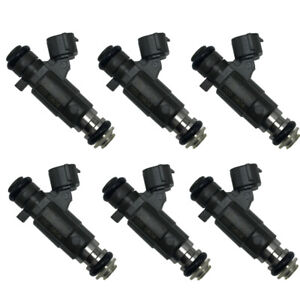 For 07-16 Infiniti G37 Nissan GT-R Set of 6 OEM Denso Fuel Injectors 16600-JK20A