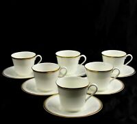 6 Royal Doulton Gold Concord H5049 Cup and Saucer Sets Multiple Available