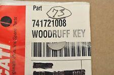 OEM Ducati MH900 M1000 M800 M750 1000SS 900SS 800SS MTS1000 999 998 Woodruff Key