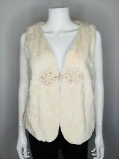 NWT $435 MCGUIRE Ivory Size 10 Fur Sweater Vest Jacket