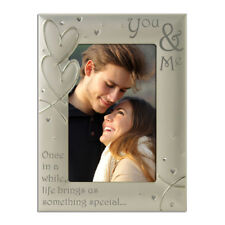You & Me, Couples, Romance, Silver Photo Frame 4 x 6 Inch
