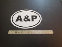 A & P Oval Sticker Aviation Pilot Aircraft Mechanic Inspection Authorization IA